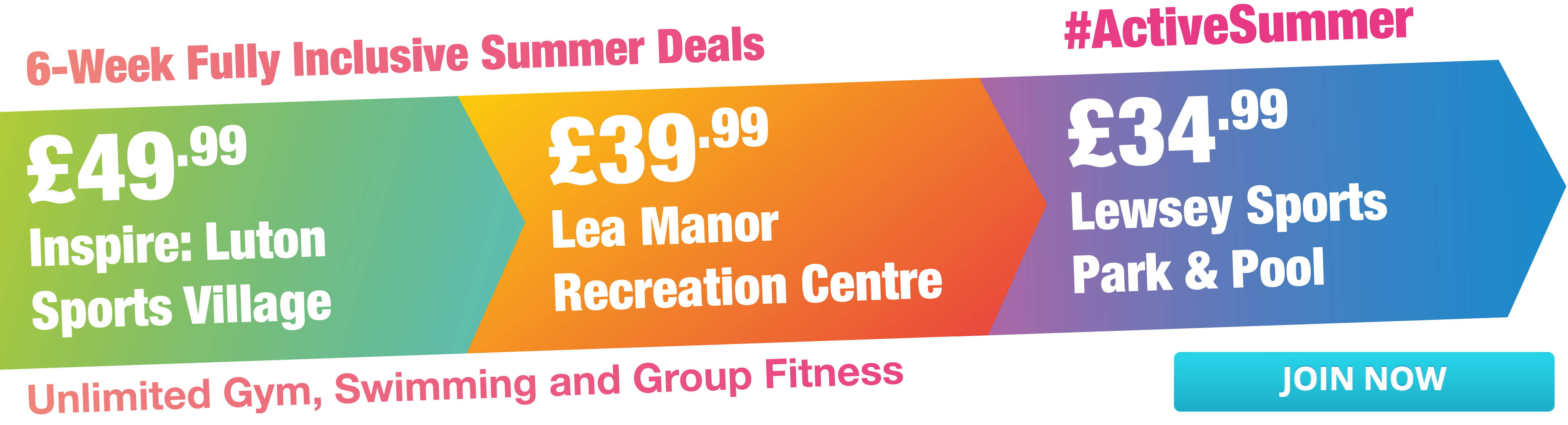Luton 6 Week Summer Gym Offer