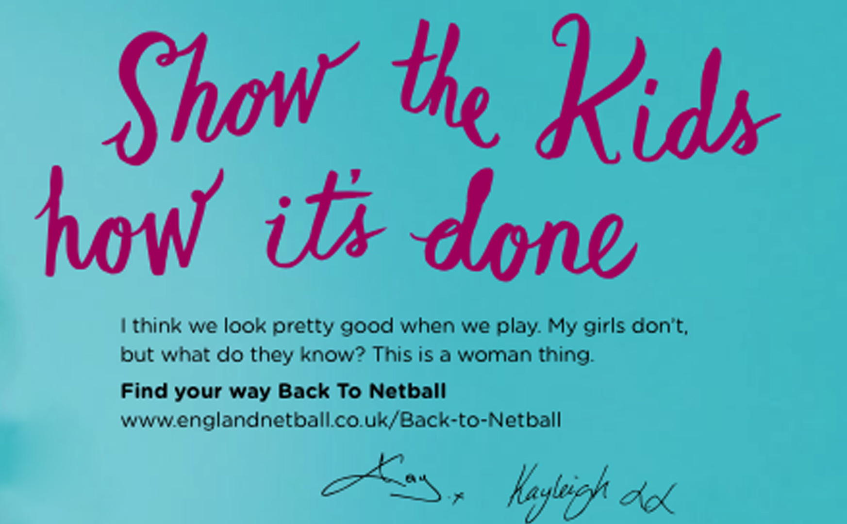 back to netball Inspire Lut