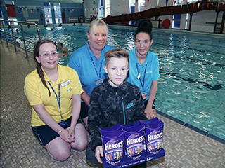 Lifeguard and Swimming Teachers reunite with 11 year old Cade