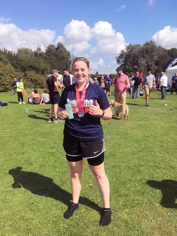 ME TIME Team Member Claire Bedford Half Marathon