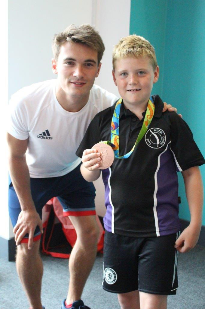 Olympic Medalist Visits Inspire