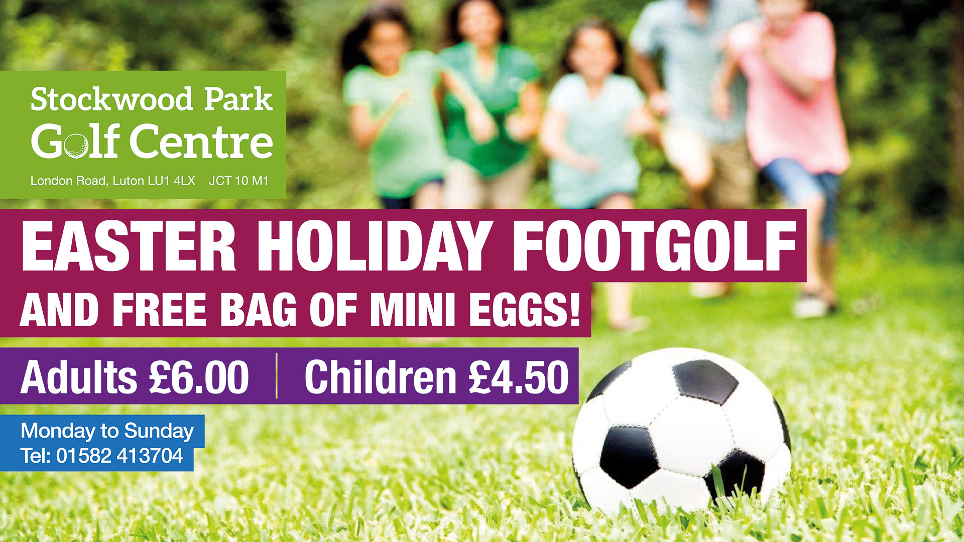 Easter Holiday FootGolf - with FREE mini eggs!